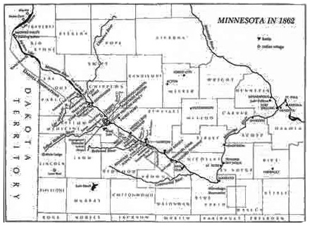 The USDakota War Of   Dwkcommentaries - Map of the us with dakotas together