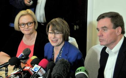 Senators McCaskill, Klobuchar and Warner (Granma photo)