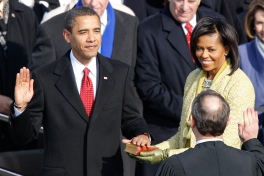 President Obama's Oath of Office with Michelle Obama