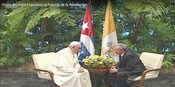Pope + Raul@ Palce